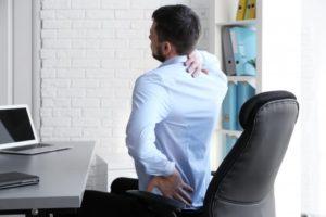 man back pain desk