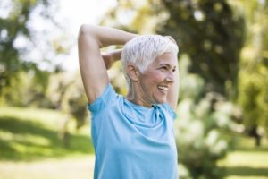an older woman having an active lifestyle
